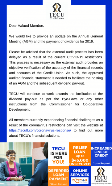 Annual General Meeting and Dividends Pay-out 2019 Update